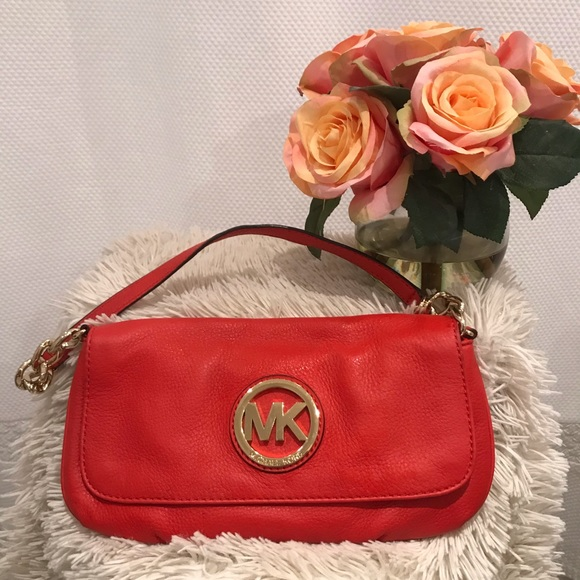 Michael Kors Handbags - Michael Kors red clutch NWOT